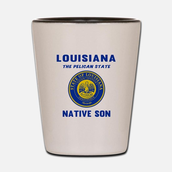 Louisiana Native Son Shot Glass