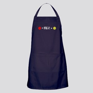 Plus Bier Equals Happiness Apron (dark)