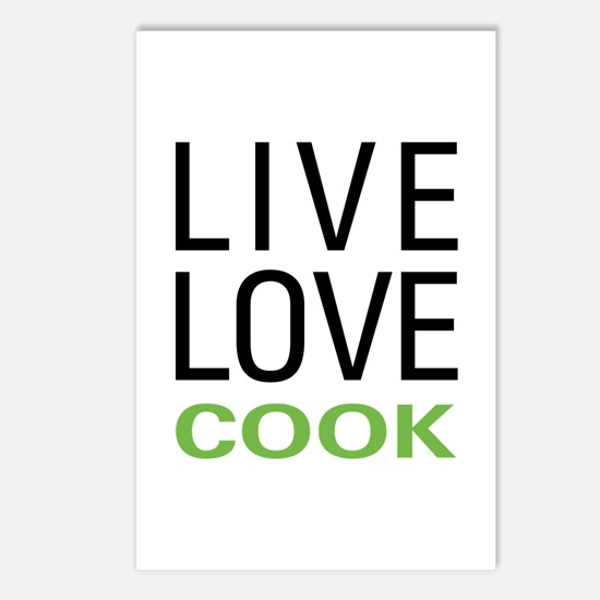 Live Love Cook Postcards (Package of 8)