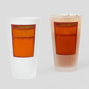 ROTHKO IN RED ORANGE Drinking Glass