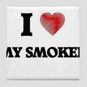 I love My Smoker Tile Coaster