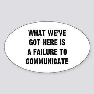 What Communicate Sticker (Oval)