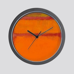 ROTHKO IN RED ORANGE Wall Clock