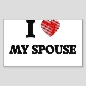 I love My Spouse Sticker