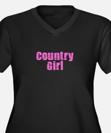 Country Girl - Pink Plus Size T-Shirt