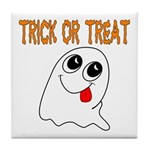 Trick or Treat Ghost Tile Coaster