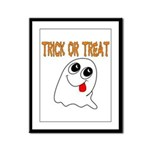 Trick or Treat Ghost Framed Panel Print