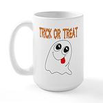 Trick or Treat Ghost Large Mug