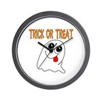 Trick or Treat Ghost Wall Clock