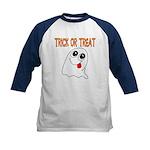Trick or Treat Ghost Kids Baseball Jersey