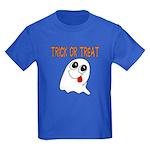 Trick or Treat Ghost Kids Dark T-Shirt