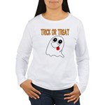 Trick or Treat Ghost Women's Long Sleeve T-Shirt