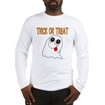 Trick or Treat Ghost Long Sleeve T-Shirt