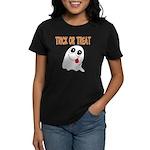 Trick or Treat Ghost Women's Dark T-Shirt