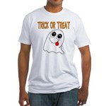 Trick or Treat Ghost Fitted T-Shirt