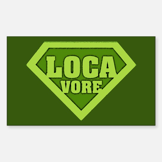 Locavore Rectangle Decal