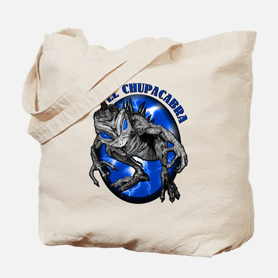 Chupacabra with Background 8 Tote Bag