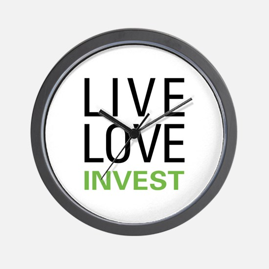 Live Love Invest Wall Clock