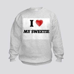 I love My Sweetie Kids Sweatshirt