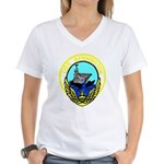 USS Bennington (CV 20) Women's V-Neck T-Shirt