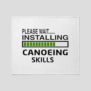 Please wait, Installing Canoeing Ski Throw Blanket