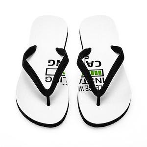 a888e5e2f4f64 Camping Designs Flip Flops - CafePress
