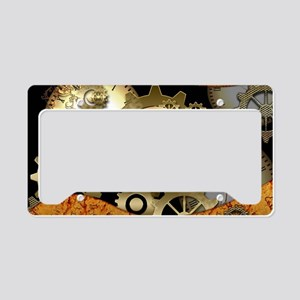 Steampunk, clocks and gears License Plate Holder