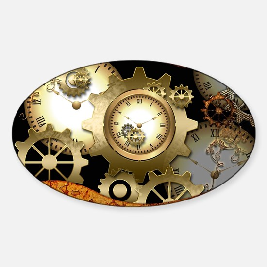 Steampunk, clocks and gears Decal