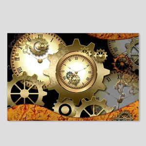 Steampunk, clocks and gears Postcards (Package of