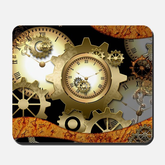 Steampunk, clocks and gears Mousepad
