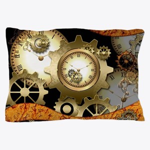 Steampunk, clocks and gears Pillow Case