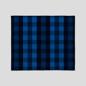 Blue Plaid Throw Blanket