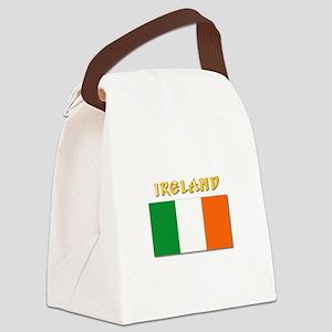 Flag of Ireland w Txt Canvas Lunch Bag