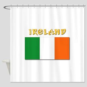 Flag of Ireland w Txt Shower Curtain