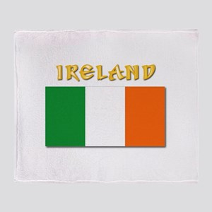 Flag of Ireland w Txt Throw Blanket