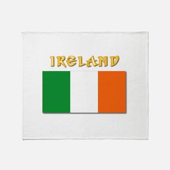 Flag of Ireland w Txt Throw Blanket