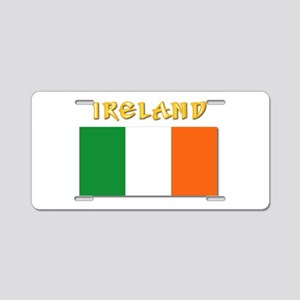 Flag of Ireland w Txt Aluminum License Plate
