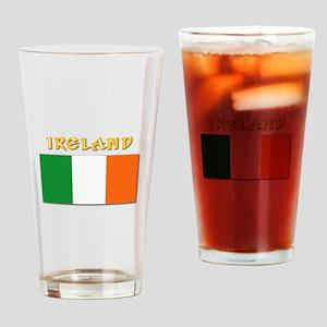 Flag of Ireland w Txt Drinking Glass