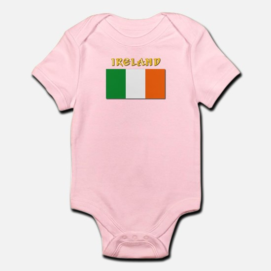 Flag of Ireland w Txt Infant Bodysuit