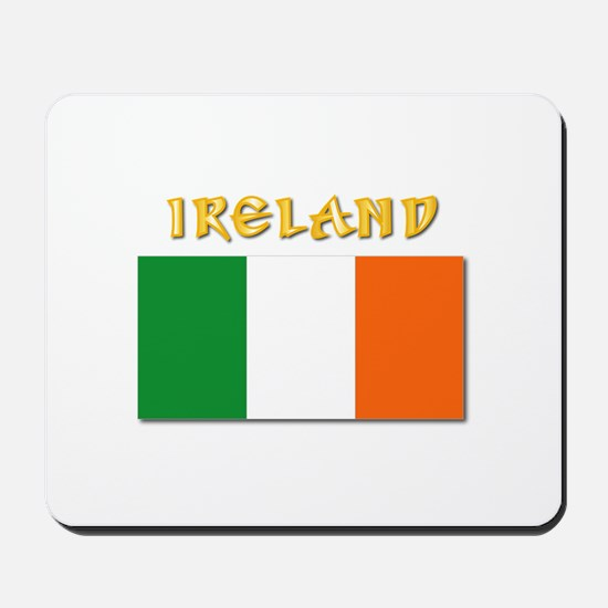 Flag of Ireland w Txt Mousepad
