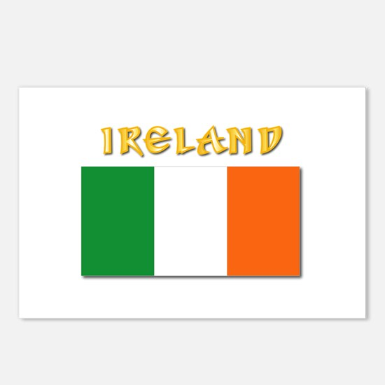 Flag of Ireland w Txt Postcards (Package of 8)