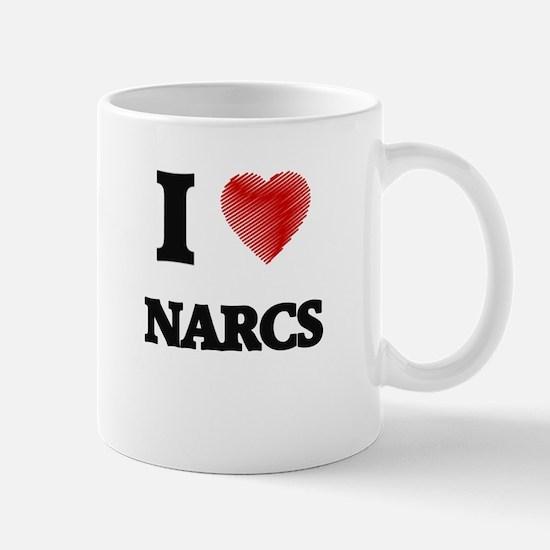 I Love Narcs Mugs