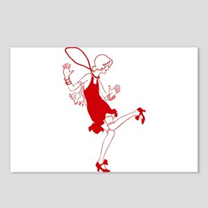 red flapper girl Postcards (Package of 8)