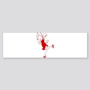 red flapper girl Bumper Sticker