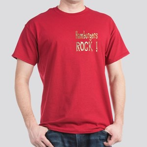 Hamburgers Rock ! Dark T-Shirt