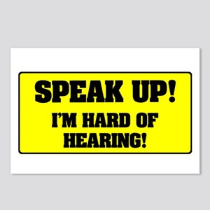 SPEAK UP - I'M HARD OF HE Postcards (Package of 8)