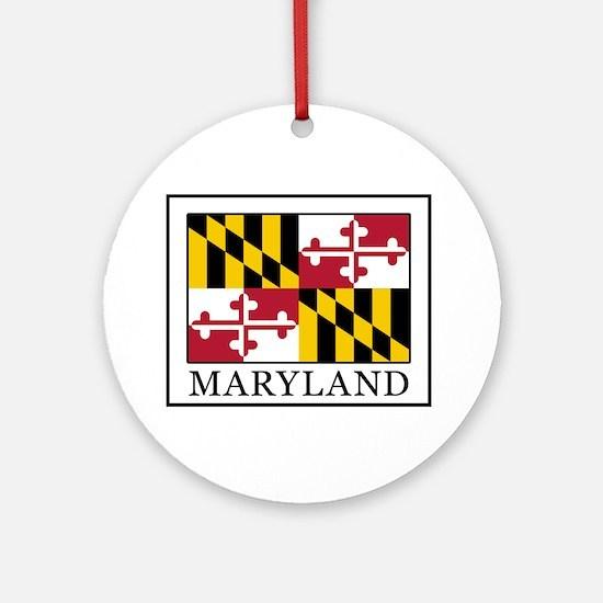 Maryland Round Ornament