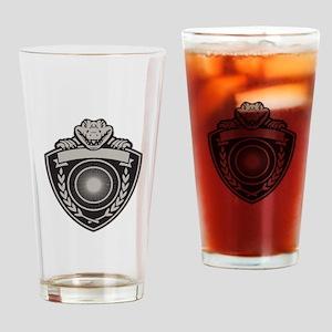 Gator Head Coat of Arms Retro Drinking Glass