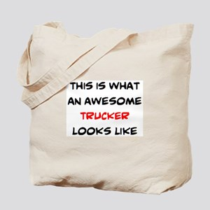awesome trucker Tote Bag