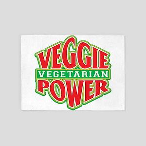 Veggie Power Vegetarian 5'x7'Area Rug